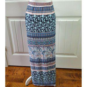 C Apparel Womens Maxi Skirt Multicolored Peach XS
